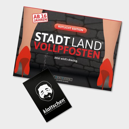 PARTY PACK - STADT LAND VOLLPFOSTEN ROTLICHT EDITION &...